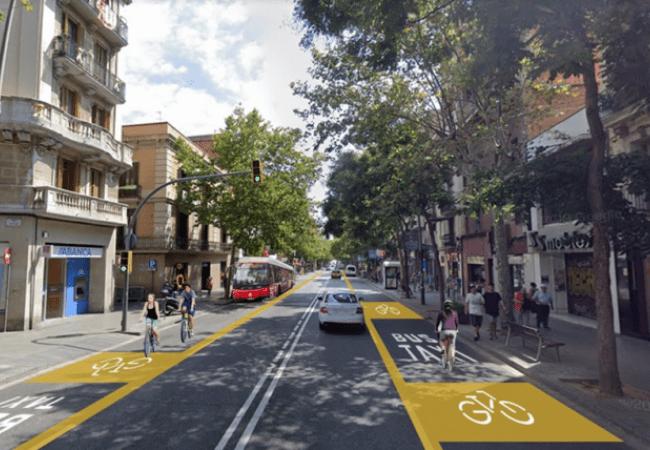 Carrils bici projectats a Sants-Creu Coberta