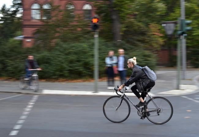 Ciclista a Berlin